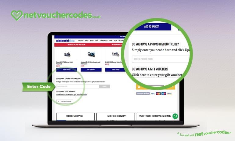 using voucher codes with Mini Model Shop.