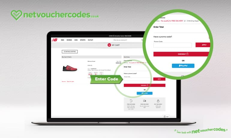 Where to enter your New Balance code