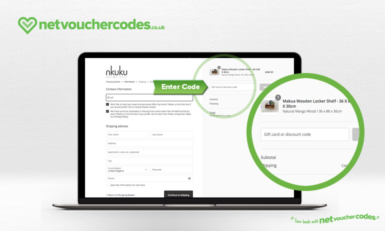 using discount codes with Nkuku