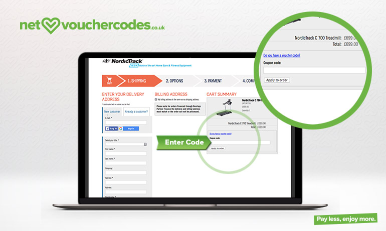 nordictrack where to enter code