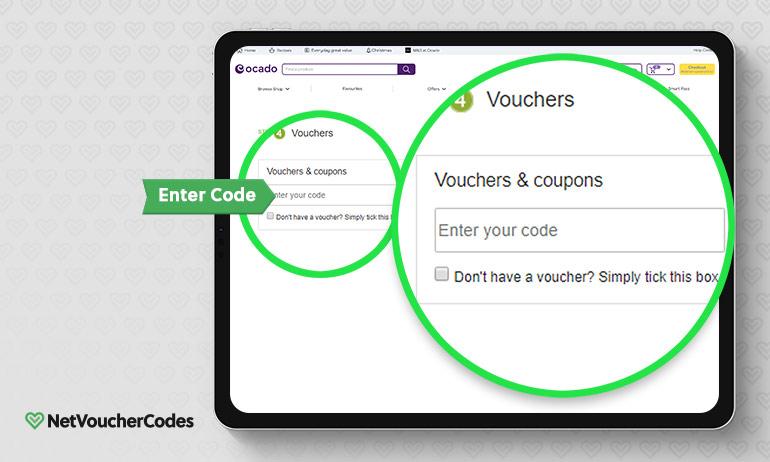 ocado where to enter code