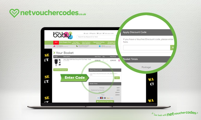 using discount codes with online4baby