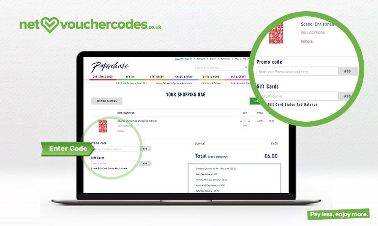 paperchase where to enter code