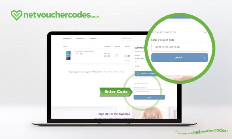 Where to enter your Pet Drugs Online Discount Code