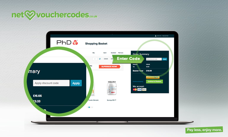 phd fitness where to enter code