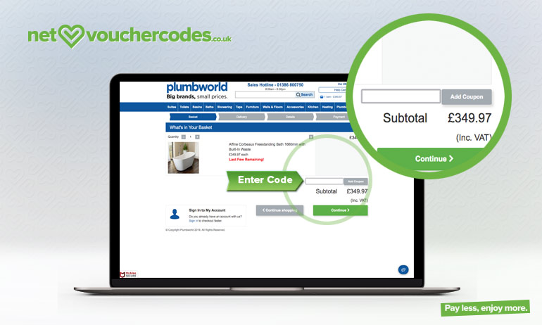 Where to use your Plumbworld coupon code