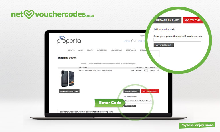 proporta where to enter code