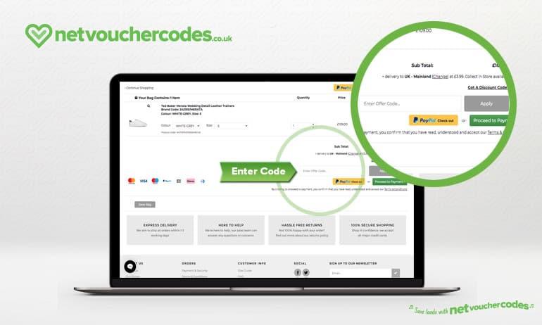 Where to enter your Robert Goddard discount code