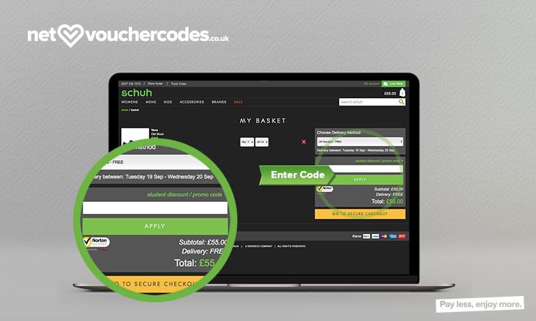schuh where to enter code