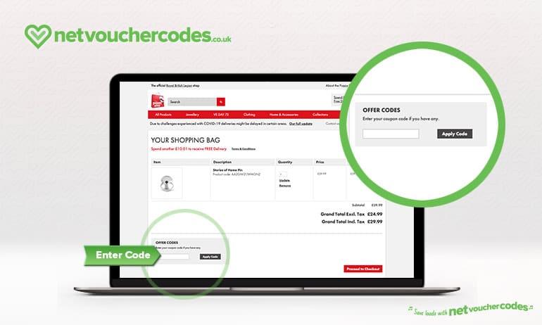 Where to enter your Poppyshop Discount Code