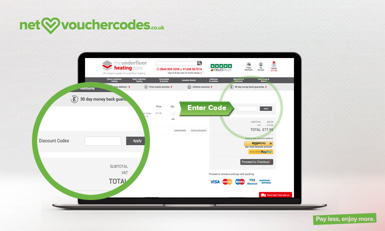 theunderfloorheatingstore where to enter code