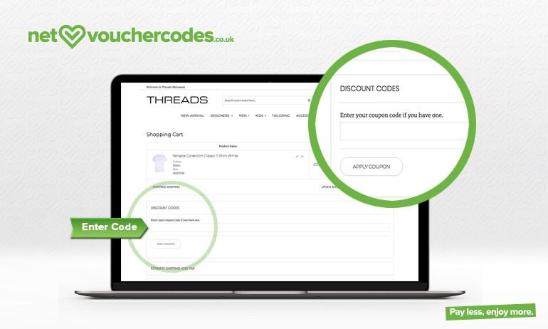 threadsmenswear where to enter code