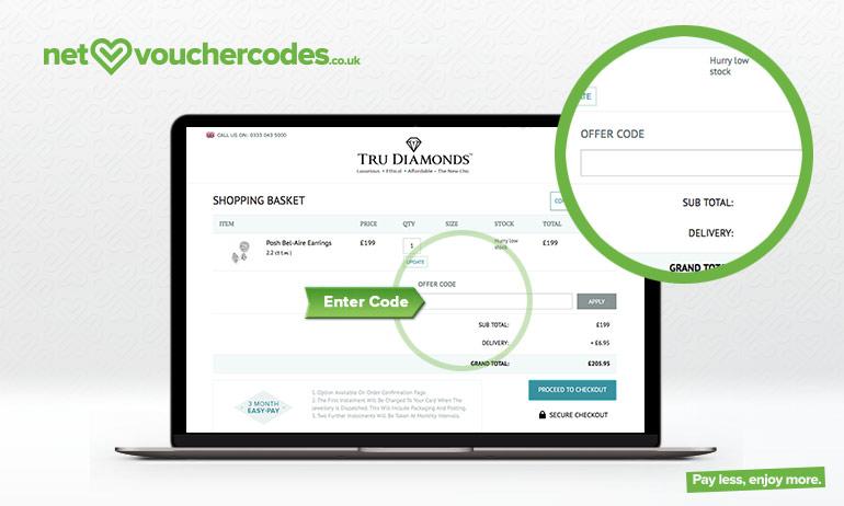 tru diamonds where to enter code
