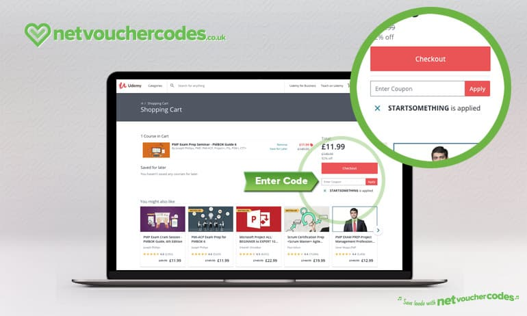 Where to enter your Udemy Discount Code
