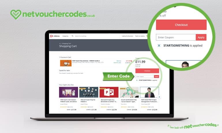 using voucher codes with Udemy.