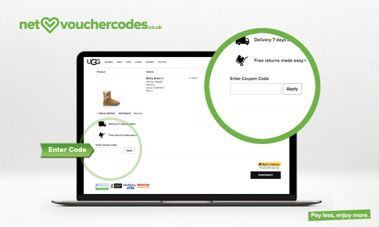 Select and copy a code from our UGG Australia UK deals page before following the link through to their website.