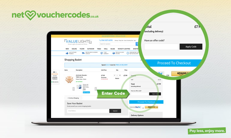 valuelights where to enter code