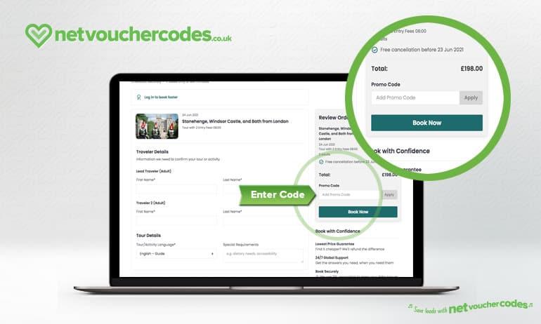 Where to enter your Viator Discount Code