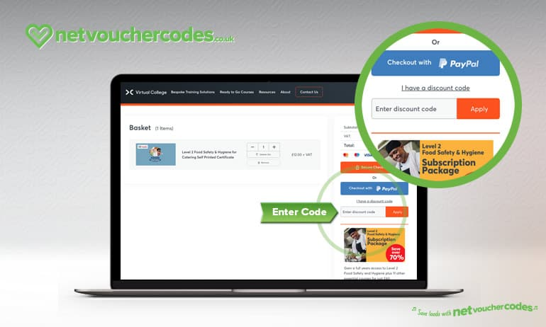 using voucher codes with Virtual Collage.