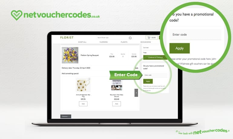 using voucher codes with Waitrose Florists.