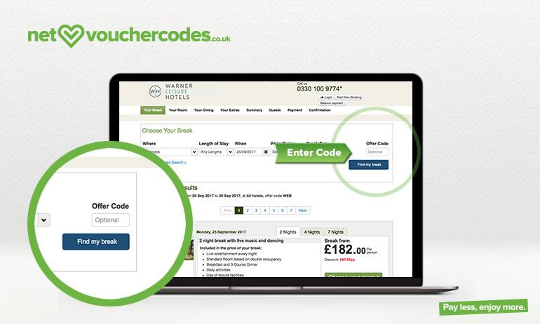 warner leisure where to enter code