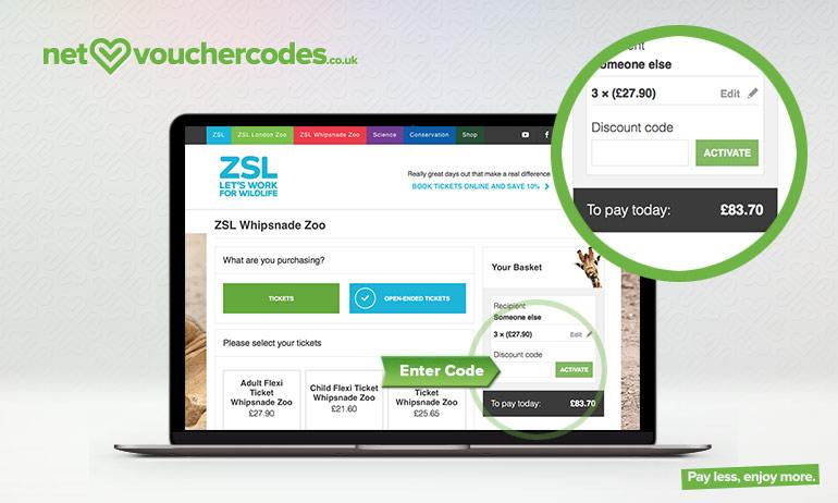 whipsnade zoo where to enter code