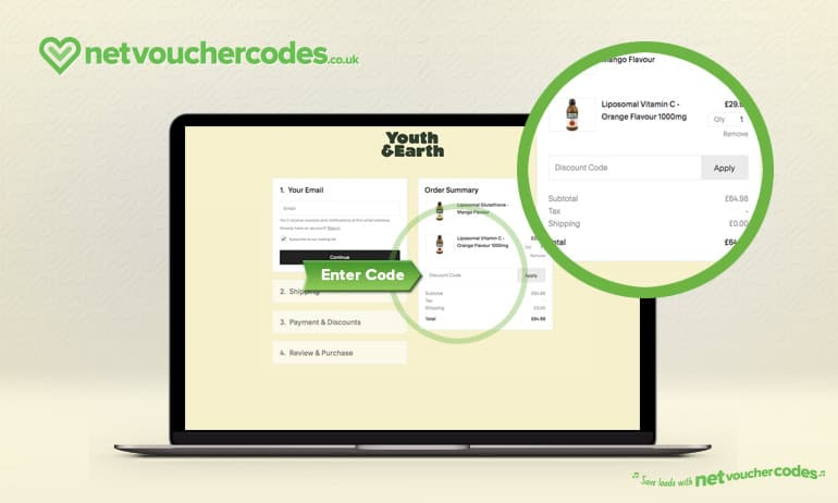 Where to enter your Youth and Earth Discount code