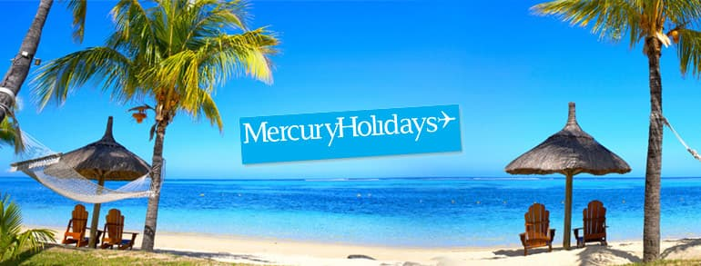 Mercury Holidays Promo Codes 2018 / 2019