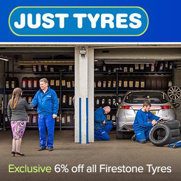 Just Tyres 6% off Firestone
