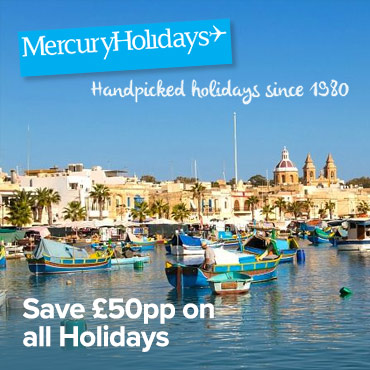 Mercury Holidays £50 off pp