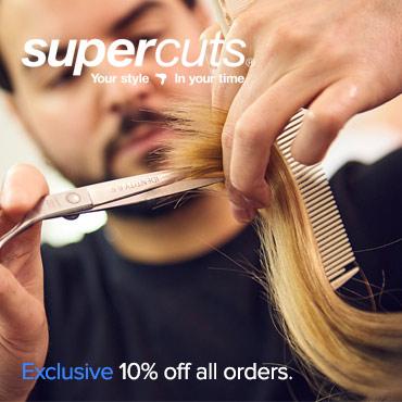 Supercuts 10% exclusive