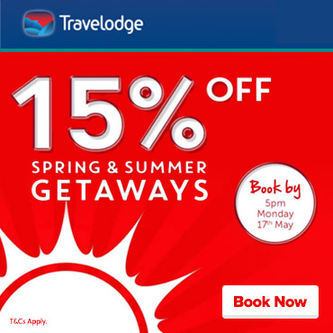 Travelodge 15% off