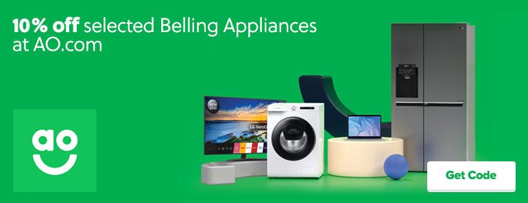 AO.com 10% off Belling Appliances