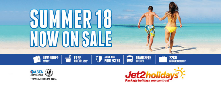 Jet2Holidays 2018 Sale