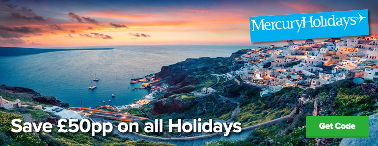 Mercury Hols £50 pp off all Holidays