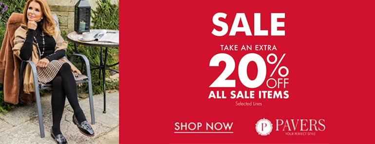Pavers Extra 20% off Sale