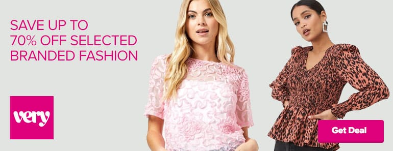 Very 70% off branded fashion