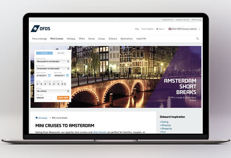 DFDS Seaways Amsterdam Cruises