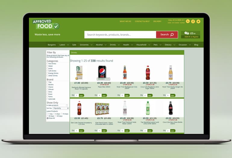 Britain's largest online retailer of clearance Food & Drink