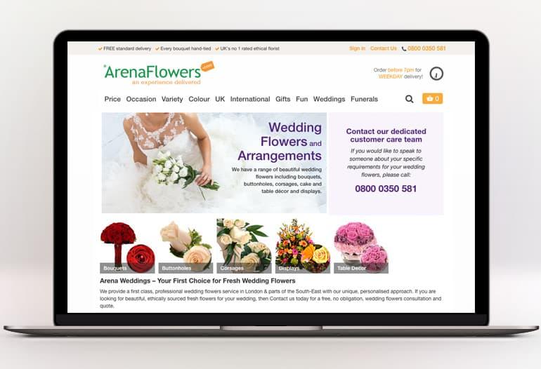 arena flowers wedding flowers