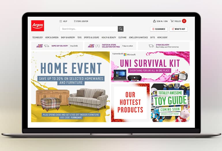 Argos Stock A Plethora Of Products In Their Online Catalogue. Discover  Everything For Your Home And Family In The Impressive Category Lists  Featured On The ...