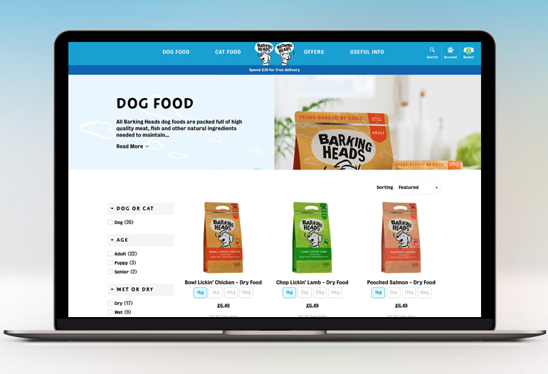 The Online Pet Food Store