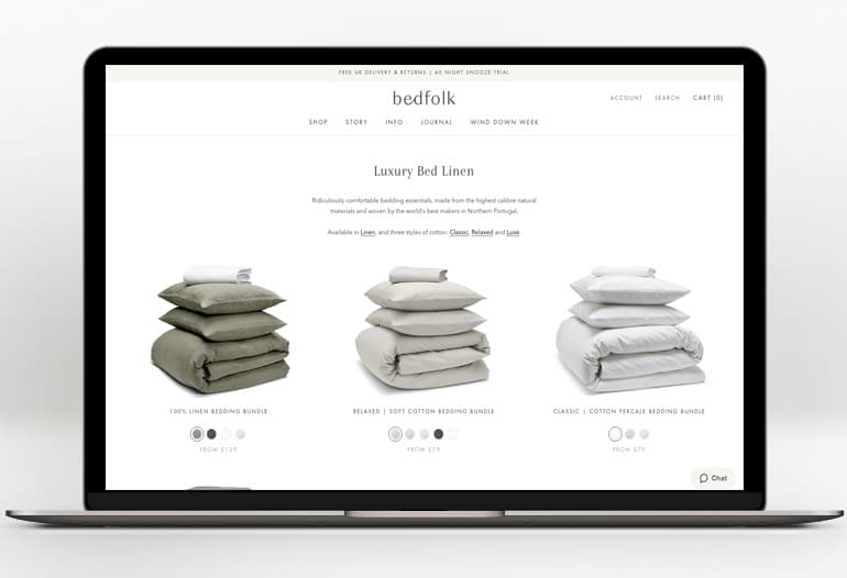 Ridiculously comfortable bedding. Ethically made & honestly priced.