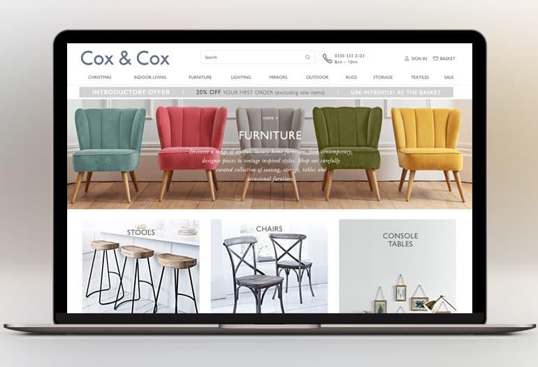 cox and cox furniture