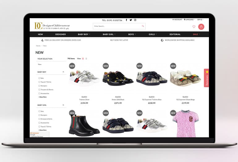 designerchildrenswear new in