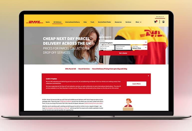 DHL UK PArcel Delivery