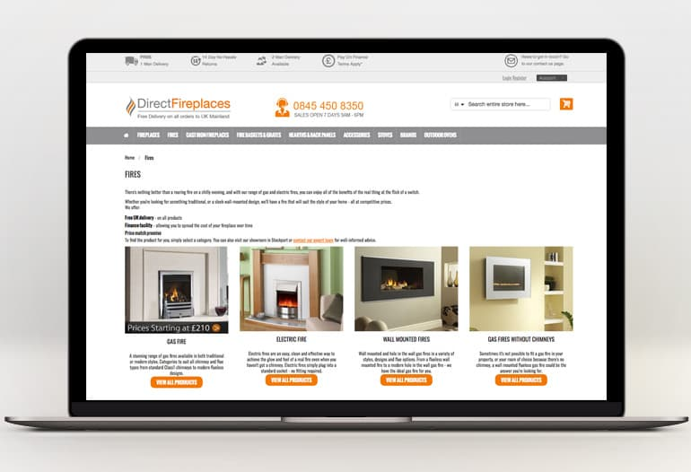 direct fireplaces fires