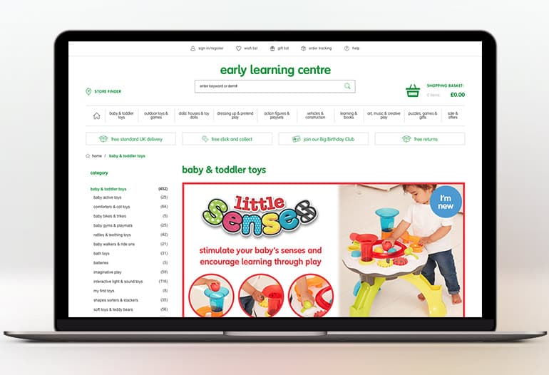 The Early Learning Centre has a passion for learning through play and has always been committed to producing quality toys that help children develop vital life skills. With an ELC discount code from vouchercloud, you'll be able to spoil your little ones this year without splurging!