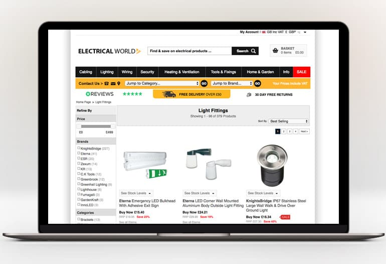 electricalworld light fittings