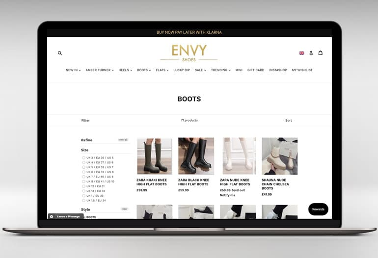 The online destination for women's footwear, for heels, sliders, ankle boots, thigh high boots & more.